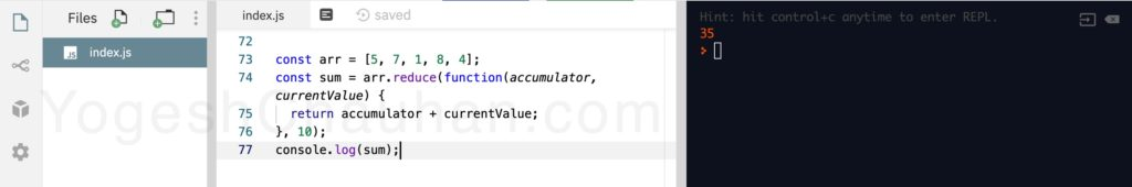 Higher Order Functions in JavaScript: with function reduce
