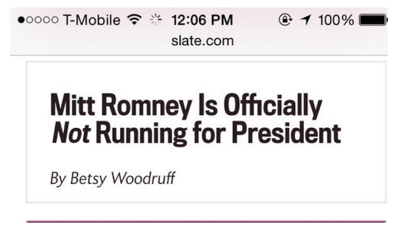 Flash of Invisible Text and Mitt Romney Example